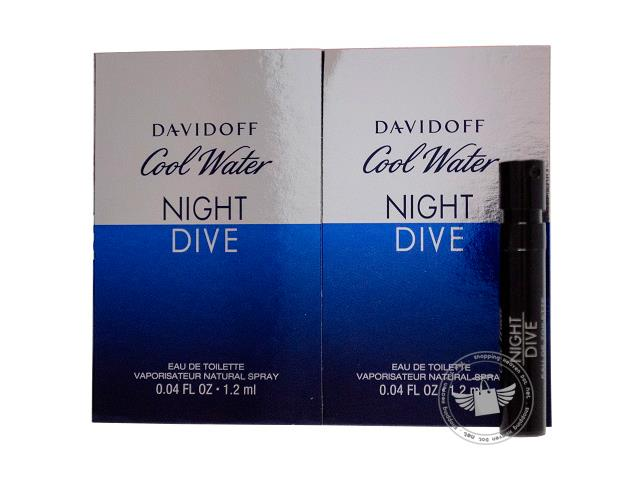 *100% Original Perfume Vials*Cool Water Night Dive 1.2ml Edt Spray  x2