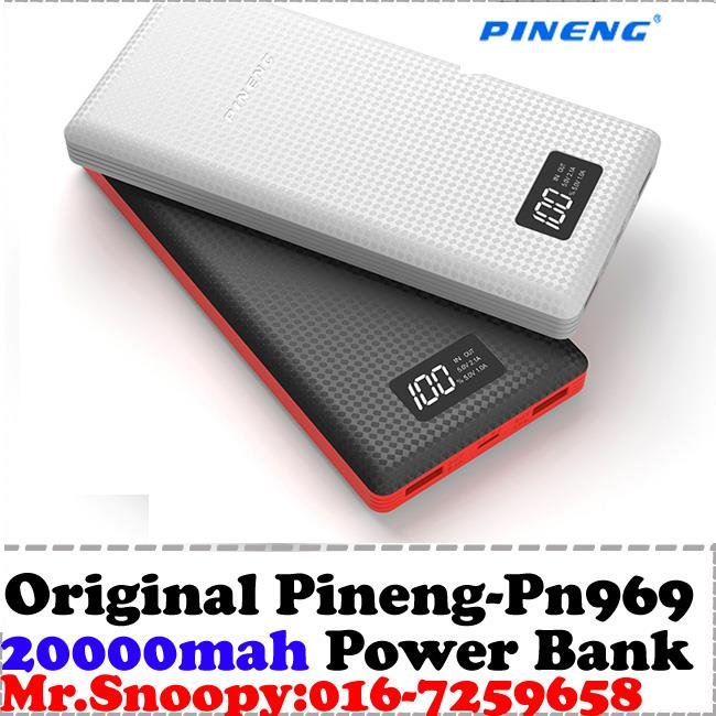 100% Original Pineng Power Bank pn969 Super Slim LCD Screen 20,000mah
