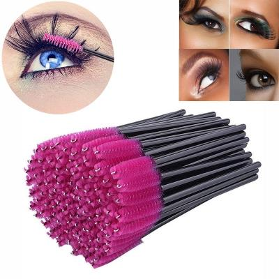 100 Pack Pink Disposable Eyelash Eye Lash Makeup Brush Mascara Wands