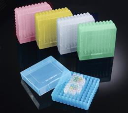 100 Well PP Storage Boxes with Open Top Lid , Assorted Colours