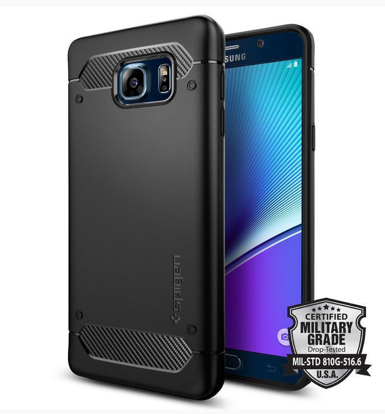 100% Spigen SGP Samsung Galaxy Note 5 Rugged Armor Case Cover Casing