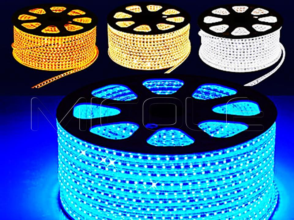10M 5050 60 LED Strip 12V Waterproof BLUE 12V Adapter Connector