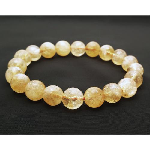 10mm Natural Citrine Bracelet for Super Wealth