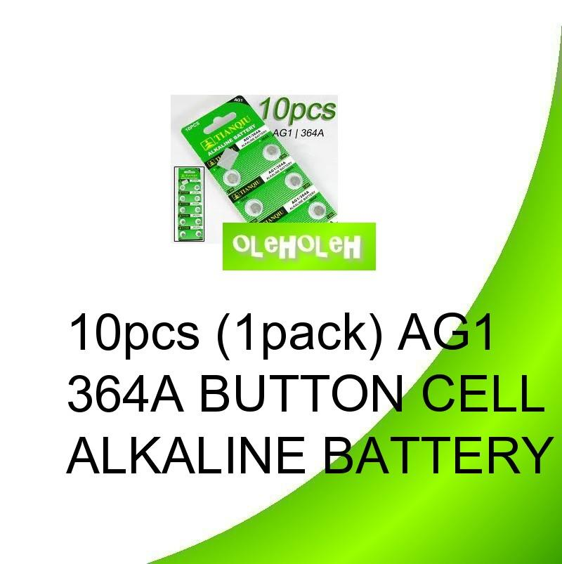 10pcs (1pack) AG1 364A Button cell Alkaline Battery