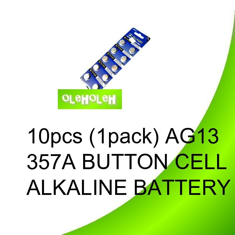 10pcs (1pack) AG13 357A Button cell Alkaline Battery