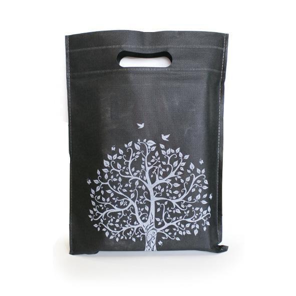 10pcs D009 Non Woven D-Cutting Recycle Goodies Bag Eco Green