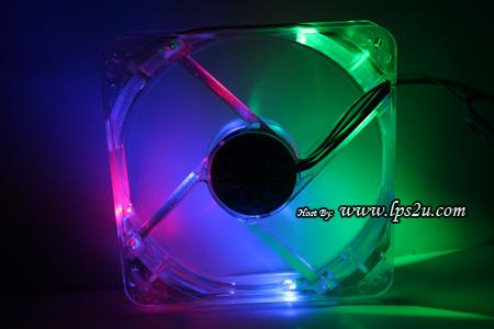12CM Thermaltake Thunderblade Multi Color LED Silent Casing Fan TT1225