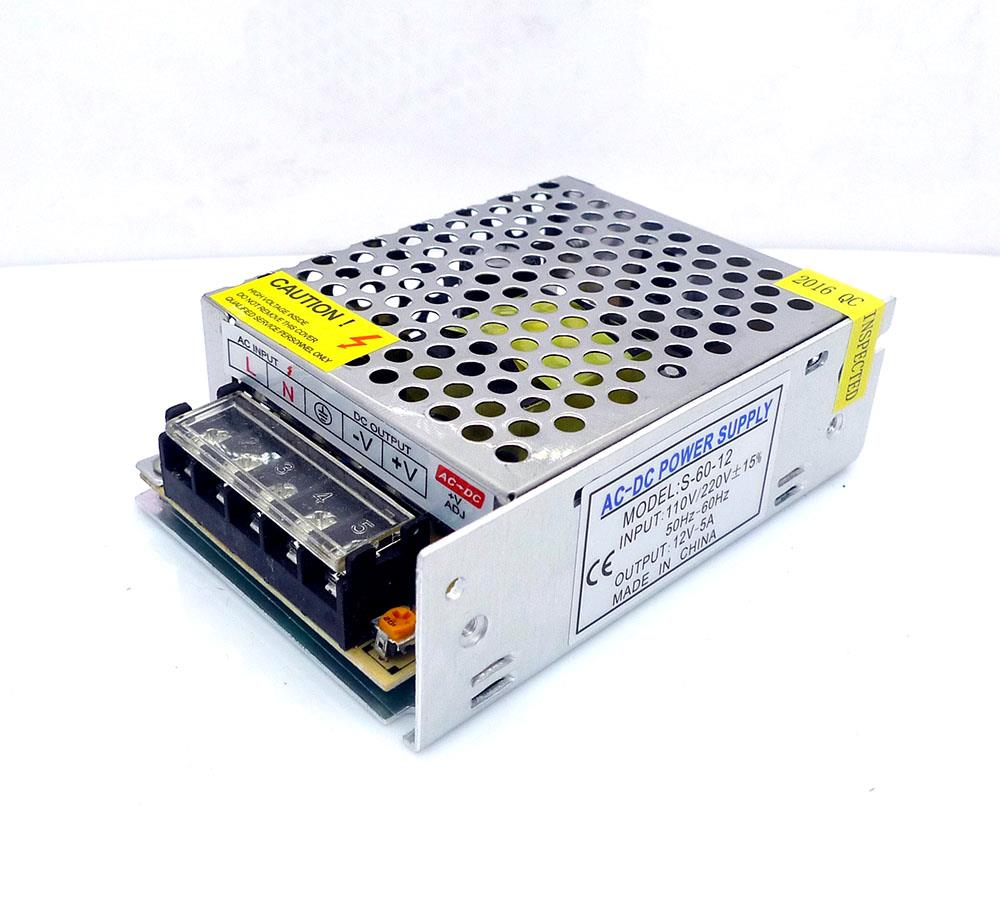 12V 5A Switching Power Supply Metal Casing PSU CCTV Adapter Transforme