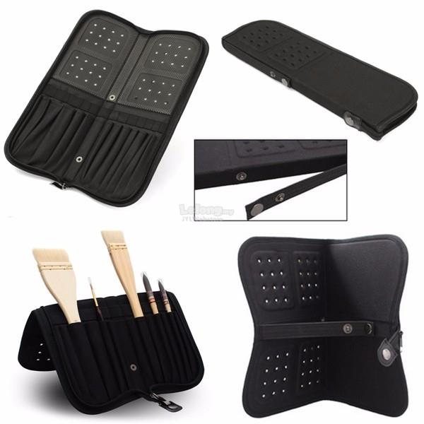 13 Slot Canvas Makeup Brush Case Drawing Holder Acrylic Gouache Painti