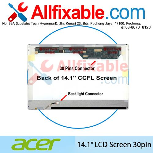 14.1' LCD (30pin) Compatible for Acer Aspire 4710 4730