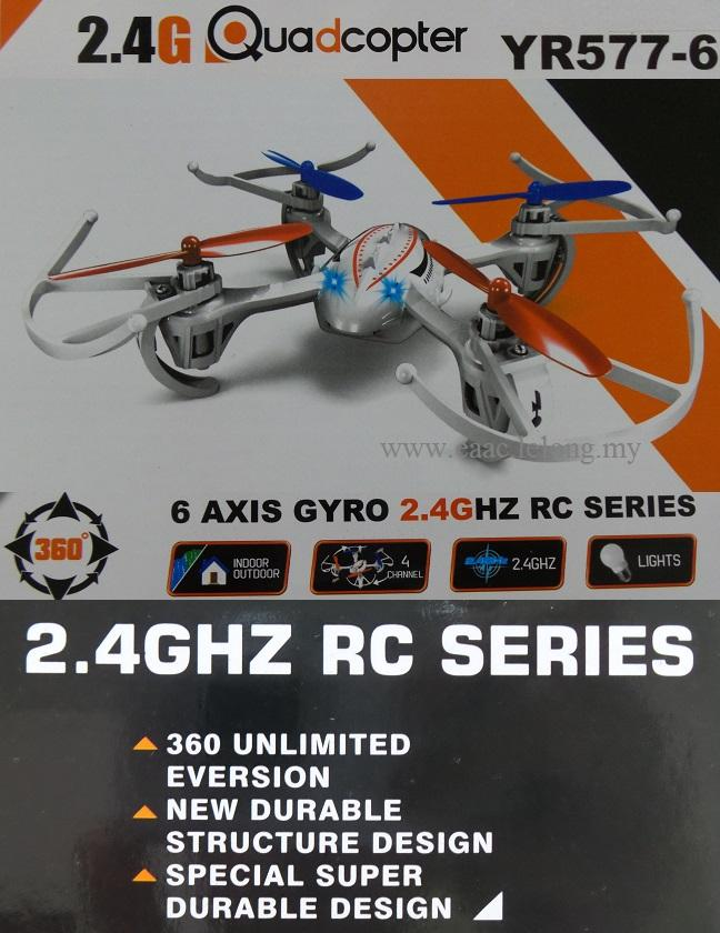 14cm RC Quadcopter 2.4G 6-Axis Gyro Drone YR577-6 Syma Helicopter UFO