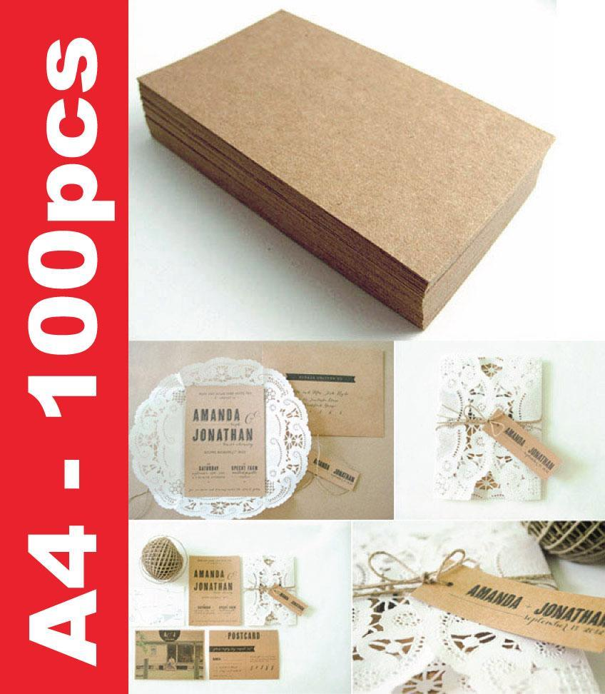 150gsm+- A4 Size Brown Craft Paper (Grade B) - 100 sheets
