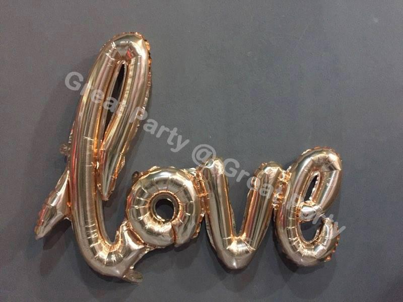 **NEW** 16in Giant Linking LOVE foil balloon Romantic Wedding/birthday