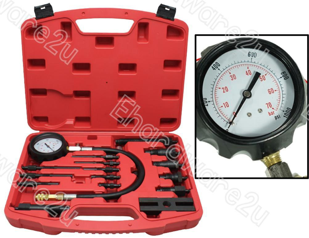 17Pcs Diesel Engine Cylinder Compression Tester (1364)