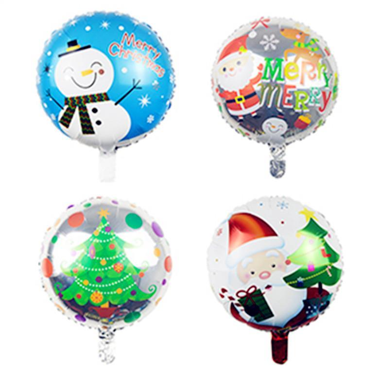 18' CHRISTMAS ROUND BALLOON
