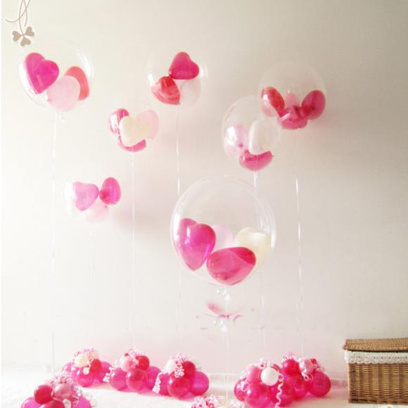 18 inch Big Semi Clear Transparent Balloons For Decoration Balloon