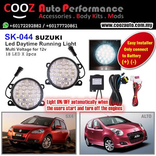 18 LED DAYTIME RUNNING LIGHT DRL FOG LAMP - SUZUKI ALTO SX4