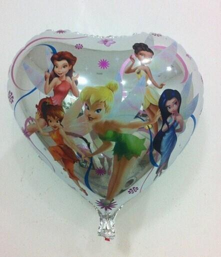 18 in TinkerBell Fairy Round Shape Foil Balloon Cartoon Foil Balloons