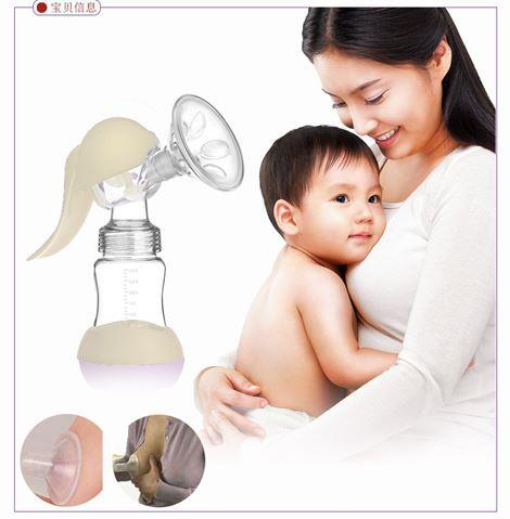 180ml Silicone Manual Hand-type BPA Free Breast baby Pump bottle baby