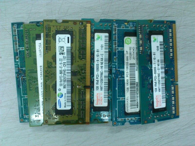 1GB DDR3 SODIMM Notebook RAM PC3-8500S PC3-10600S 250815