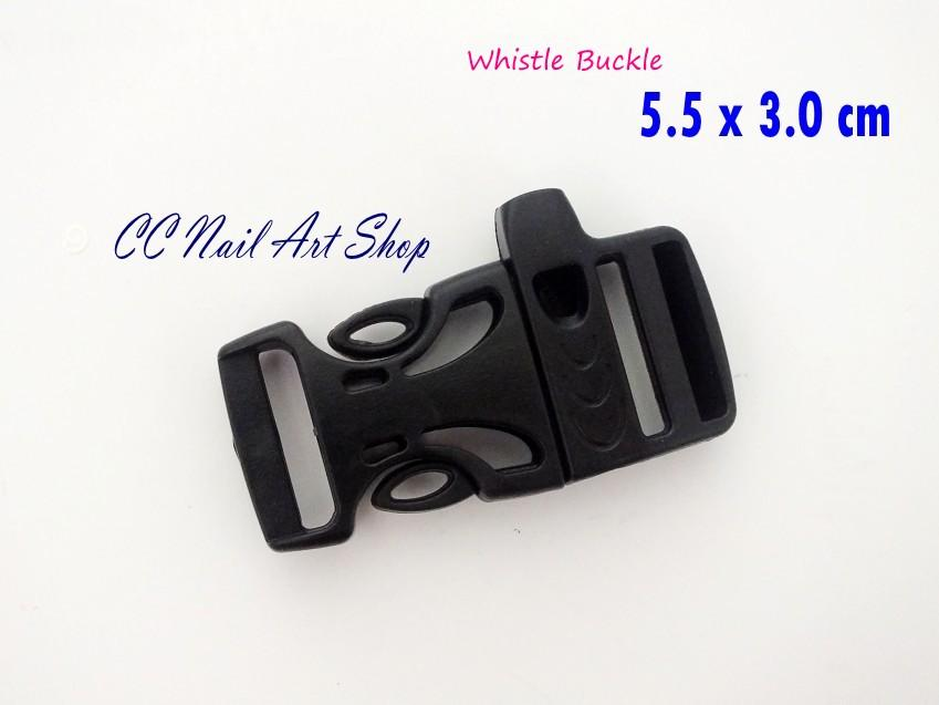 1pc high quality whistle plastic buckle paracord bracelet 5.5cmx2.6cm