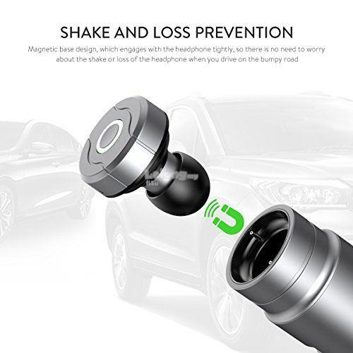 2 in 1 Bluetooth Earbuds Headphone Handsfree + USB Car Charger