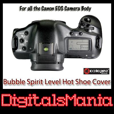 2 in 1 Octopus Bubble Spirit Level Hot Shoe Cover - Canon 100D 1100D
