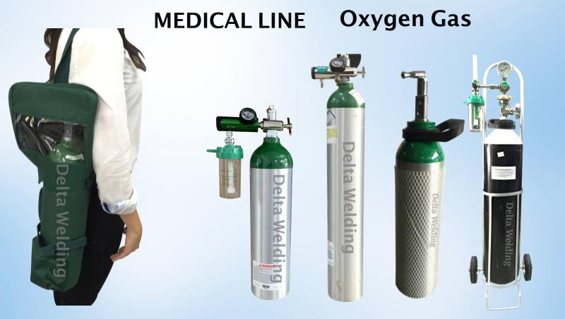 2.5 Litres Medical oxygen gas set ( with Bag)