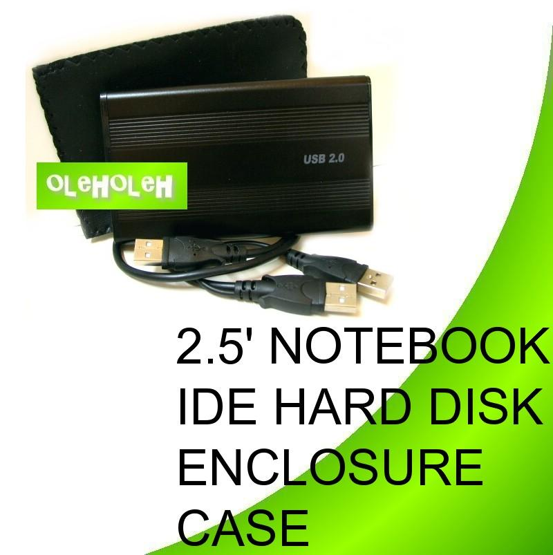 2.5' Notebook IDE Hard Disk Enclosure External Case For Backup