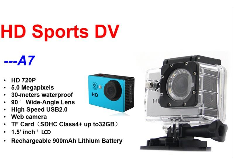 2 Inch A7 HD Sport DV Diving 30M Waterproof Action Camera SJCAM EKEN