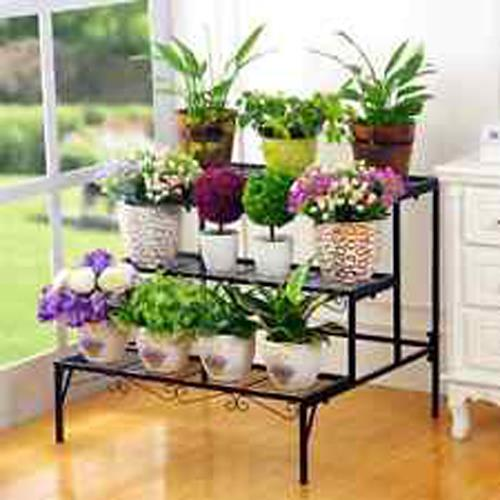 Pot Stand Designs : Layer iron stand multi level flower end pm