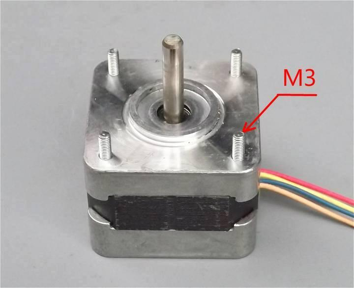 2 phase 4 wire Stepper Motor 1.8˚ 2.3kg.cm 1A