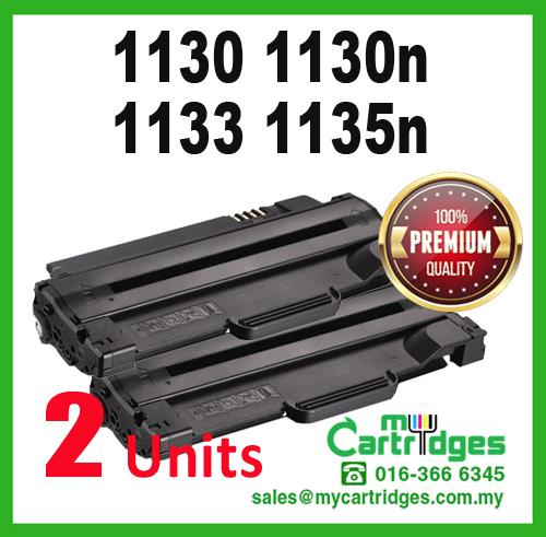 2 Unit Premium DELL 1130 1130n 1133 1135n Compatible Toner Cartridge