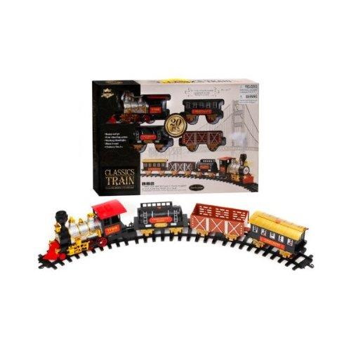 20 PCS B/O Classic Toy Railway Train Set with Light and Smoke