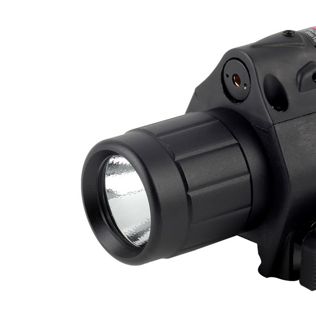 200 Lumen Tactical LED Laser Flashlight Combo Red Sight Wrench Tail Sw..
