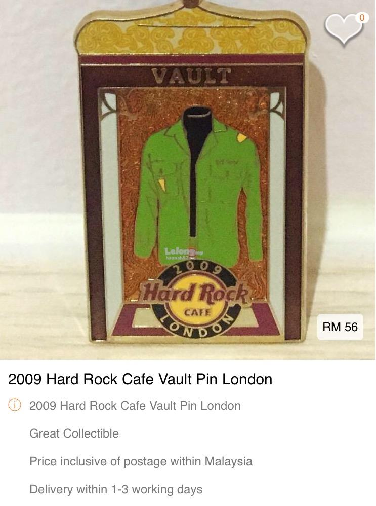 2009 Hard Rock Cafe London Pin Vault (AH007)