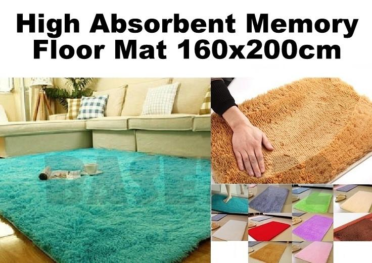 200x160cm  Soft Large Floor Mat High Aborbent Rug Carpet 2.5cm Thick