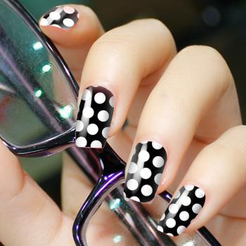 2012 New Design Fashionable Nail Patch Sticker-Silver Dot