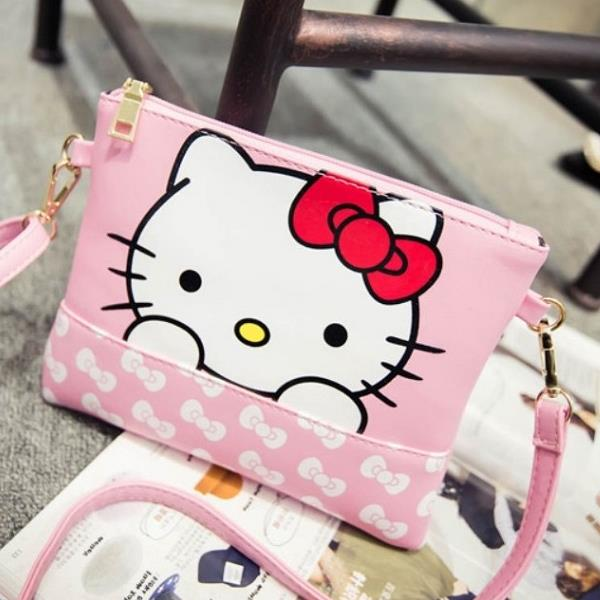 2016 New Hello Kitty - Pink Hello Kitty Envelop Style Cross Body Bag