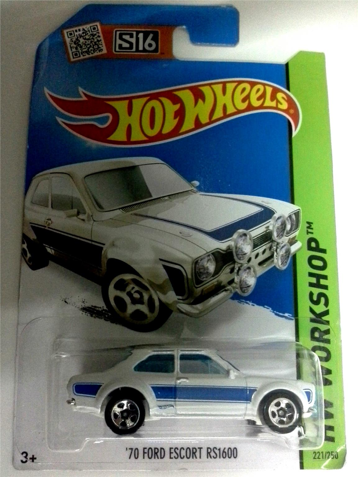 2016 Hot Wheels 70 FORD ESCORT RS1600 WHITE