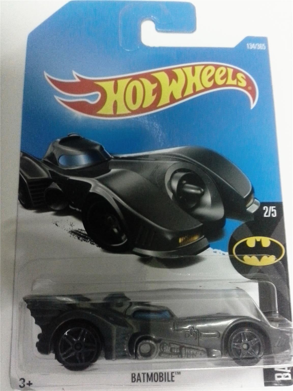 2016 Hot Wheels BATMAN BATMOBILE DARK GREY