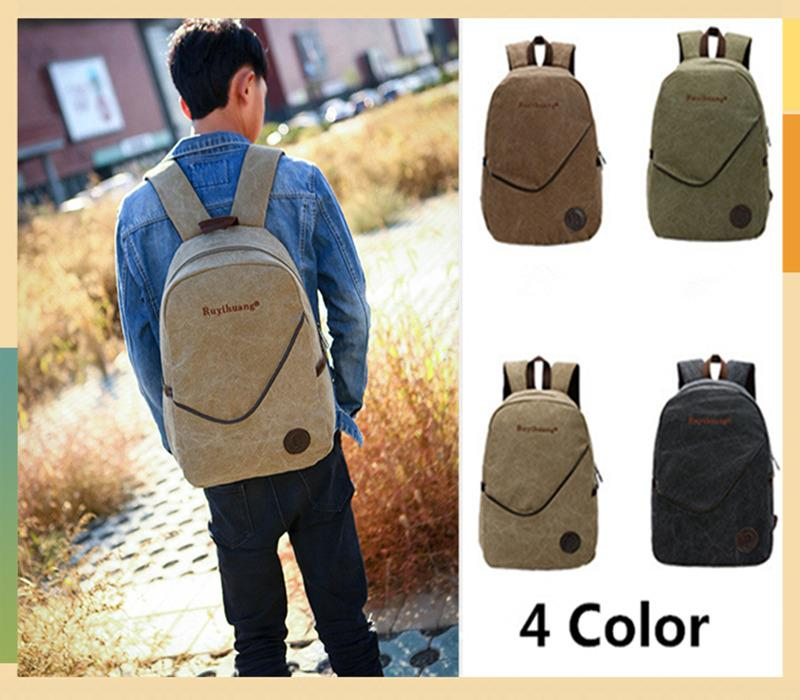 2016 Latest Men Canvas Backpack Men (end 12/16/2017 5:16 AM)