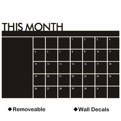"2016 ""THIS MONTH"" Calendar Decal Chalkboard Vinyl Wall Calendar Decal"