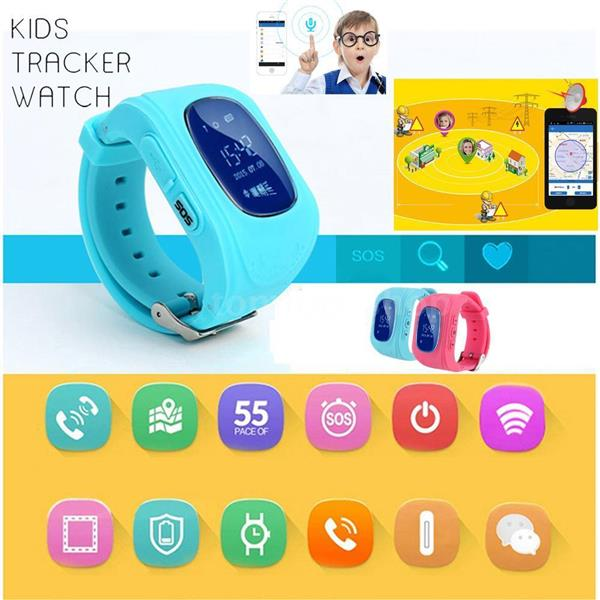 2016 Smart Watch Waterproof Children GPS Tracker For Android / IOS