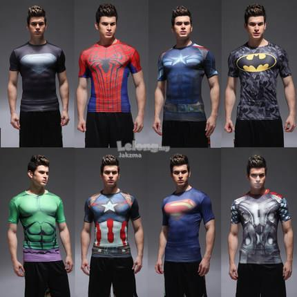 2016 Superhero Avengers Marvel gym sport compression fit t-shirt