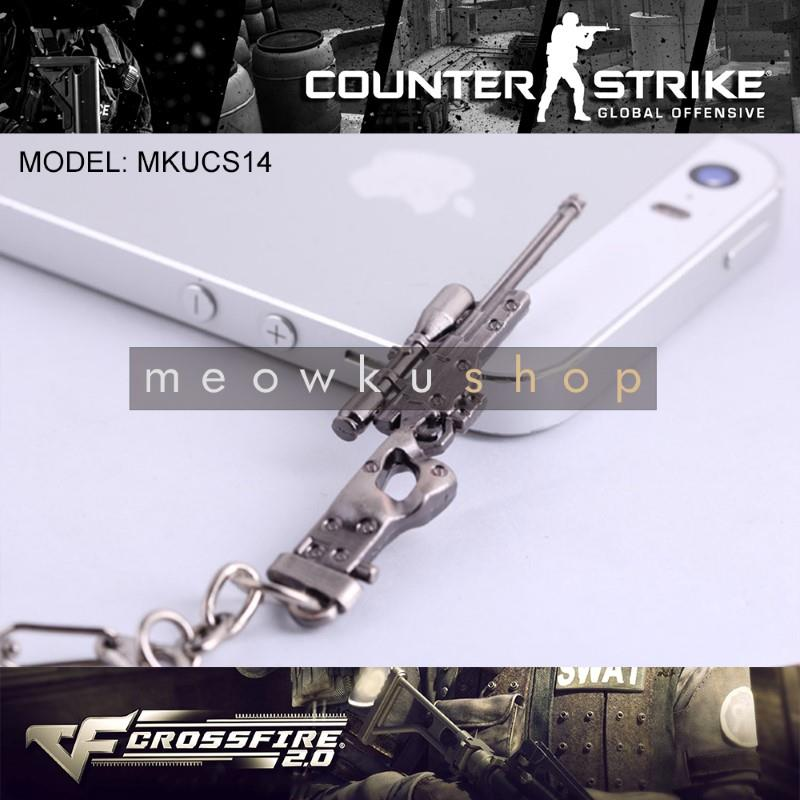 NEW 2017 AWP Sniper CSGO Counter-Strike CS CrossFire Metal Keychain