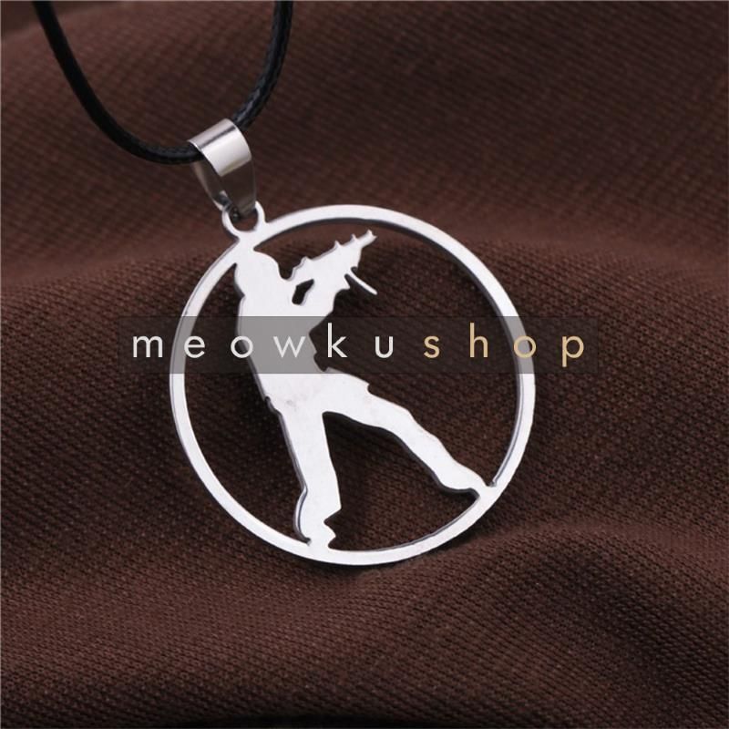 NEW 2017 CSGO Counter Strike CS Tag Logo Metal Necklace Round Rantai