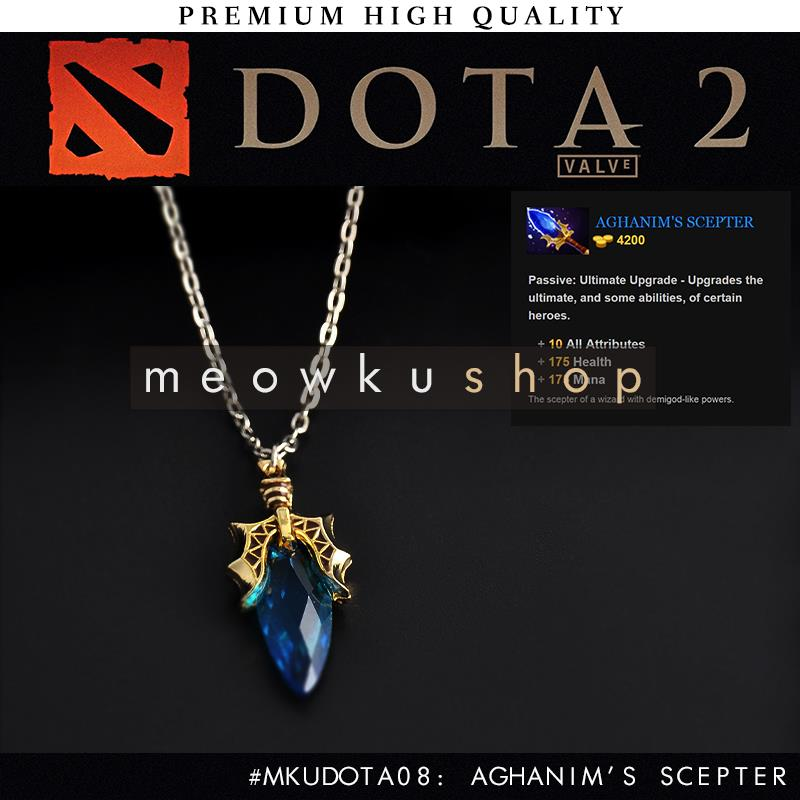 2017 New DOTA 2 Aghanim's Scepter Free 34cm Chain Crystal Necklace
