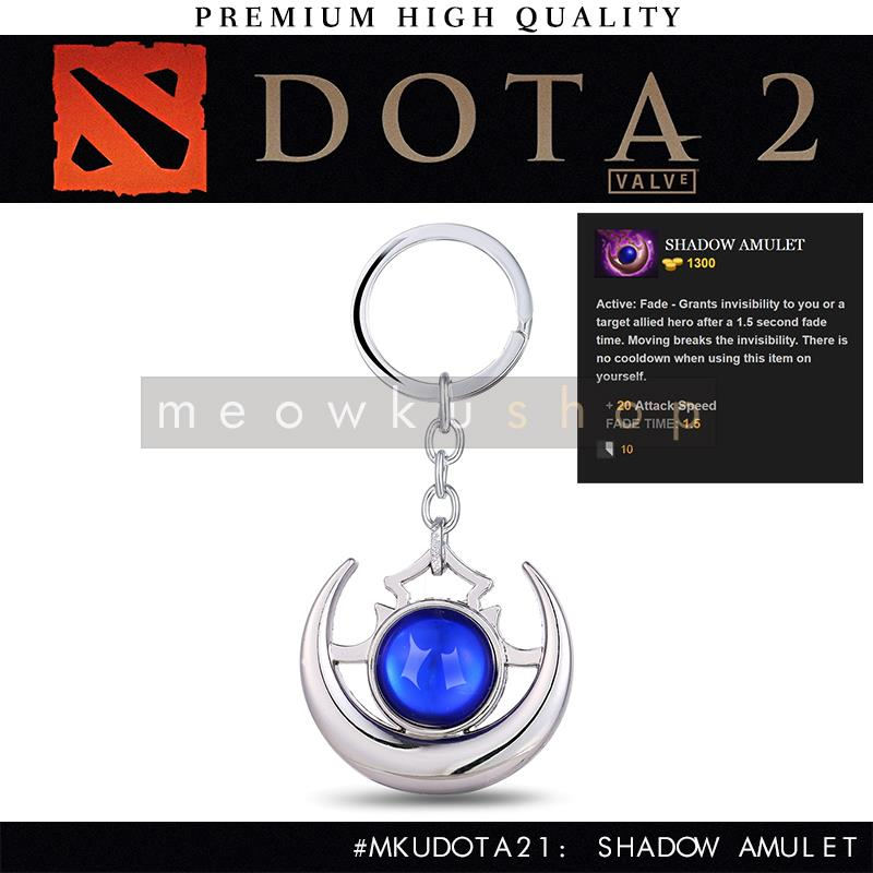 2017 New DOTA 2 In-Game Item Shadow Amulet 9.5cm Metal Keychain