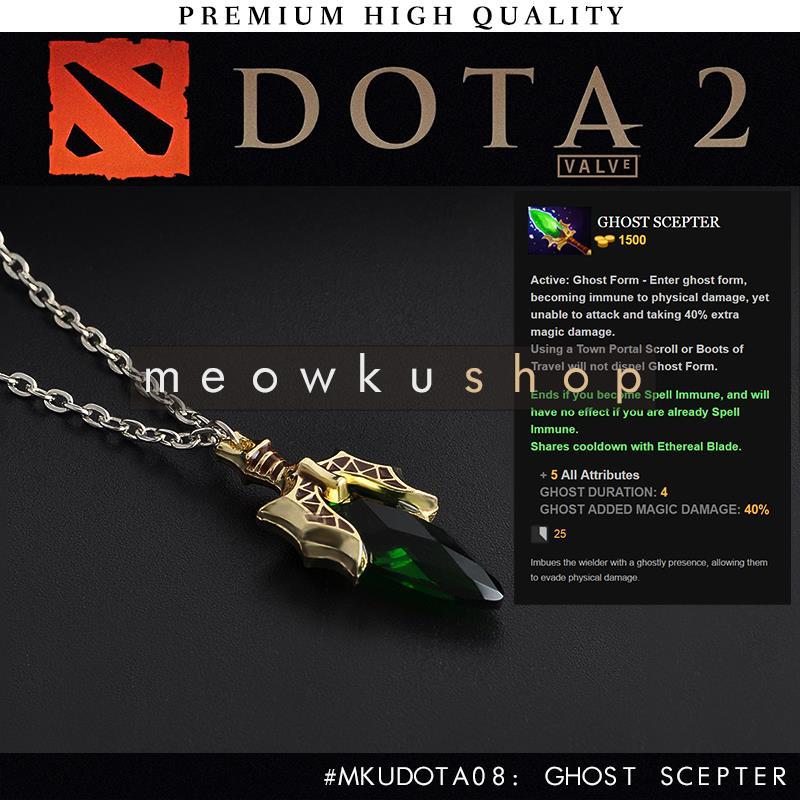 2017 New DOTA 2 Ghost Scepter Free 34cm Chain Crystal Necklace
